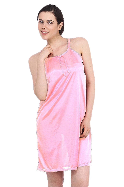 b192ec0403 ... the best attitude 30fd2 342da Fasense Women Satin Nightwear Sleepwear  Short Nighty Amazon.ca Clothing ...