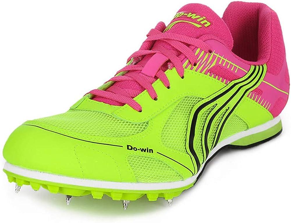 FJJLOVE Calzado de Atletismo Unisex Desgaste Resistente Picos de Campo traviesa Competencia Profesional Running Calzado de Entrenamiento Zapatillas de Deporte,Verde,44: Amazon.es: Zapatos y complementos