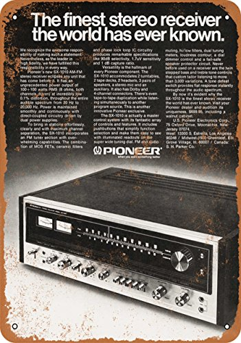 Wall-Color 10 x 14 Metal Sign - 1974 Pioneer SX-1010 Stereo Receiver - Vintage Look
