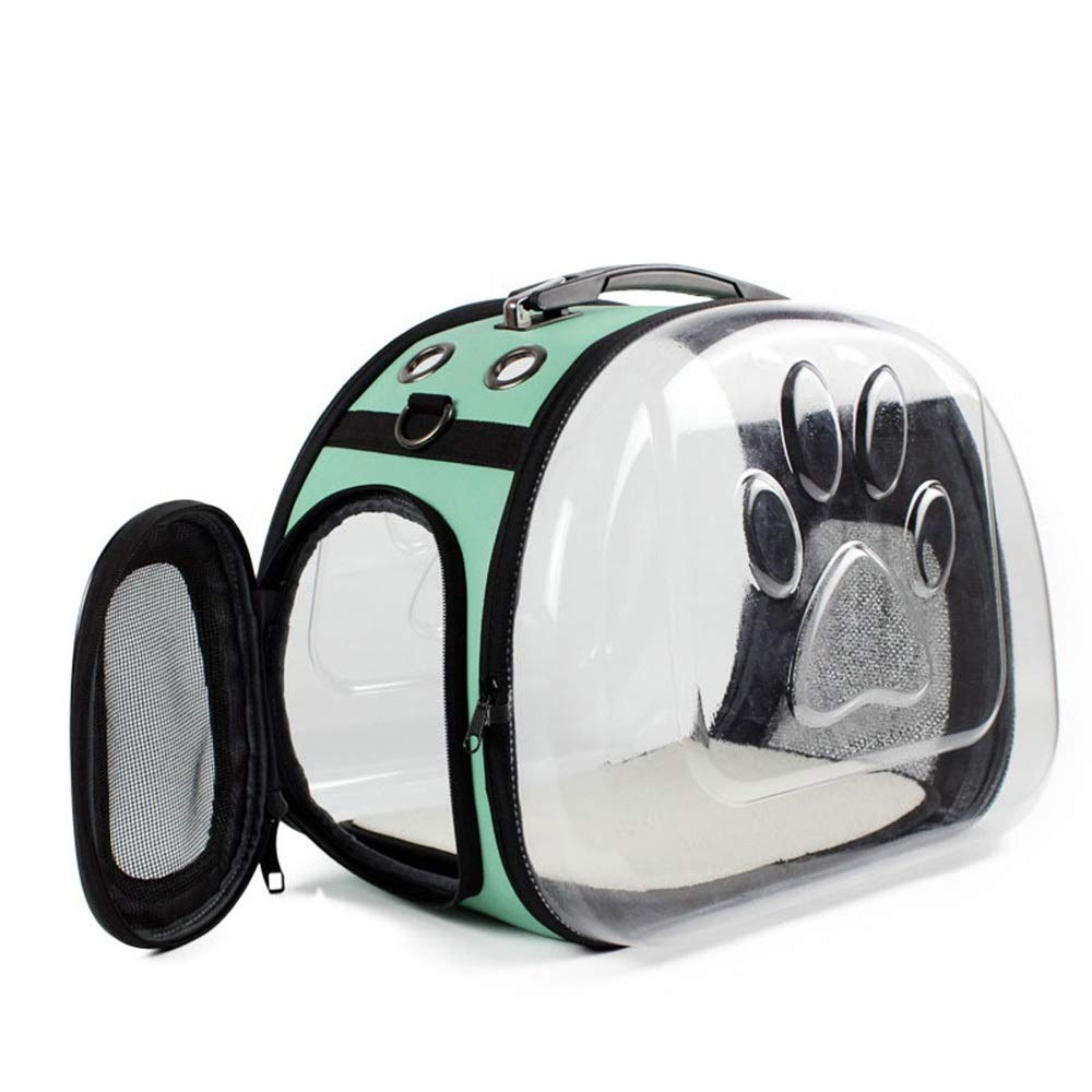 Green 413131CM Green 413131CM HYUE Cat Bag Pet Backpack Cobwebby Collapsible Out Door Package Lucid Breathable Cat Bag (color   Green, Size   41  31  31CM)