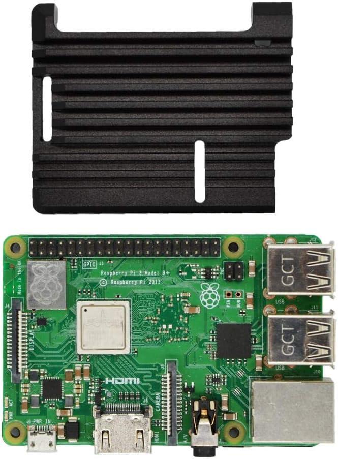 ZhanPing Caja de aleación de Armadura de Aluminio de enfriamiento pasivo Apto for Raspberry Pi 3B + Arduino Compatible: Amazon.es: Electrónica