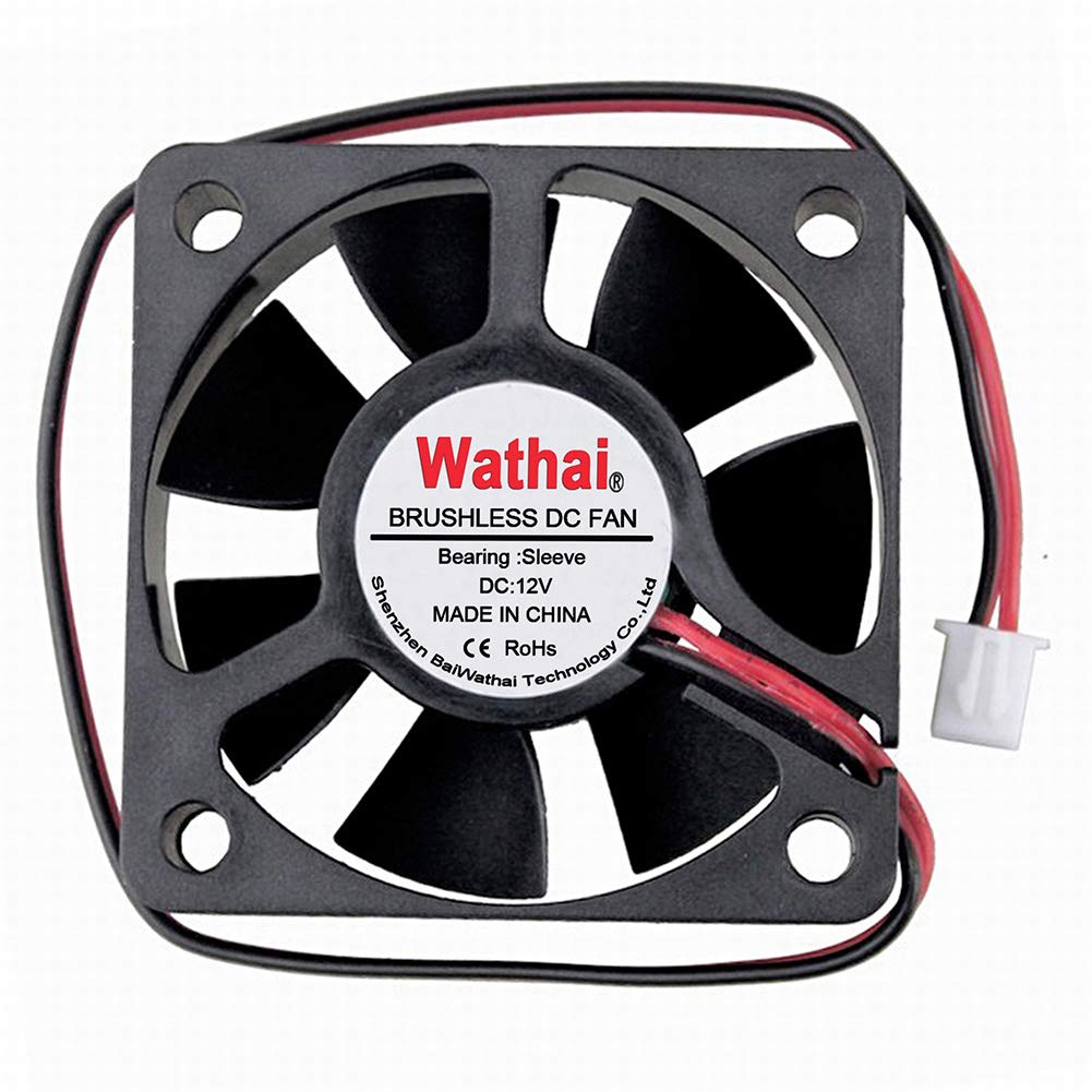 Wathai 50mm x 15mm 12V 2Pin Replacement Mini Brushless Cooling Fan