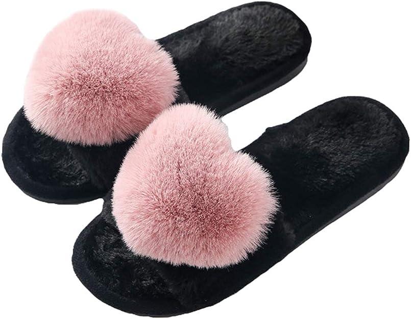 AIREE FAIREE Chausson Pantoufles Femmes fourure doubl/ée avec Pompons