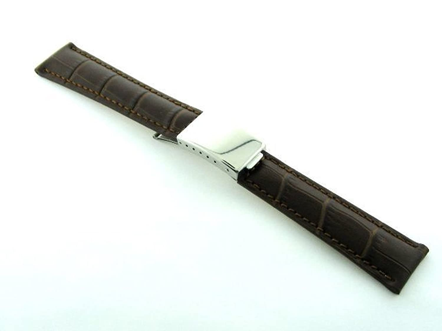 20 mmレザーストラップBand for OMEGA Seamaster Regular Clasp Brown # A  B07D6PP8QK