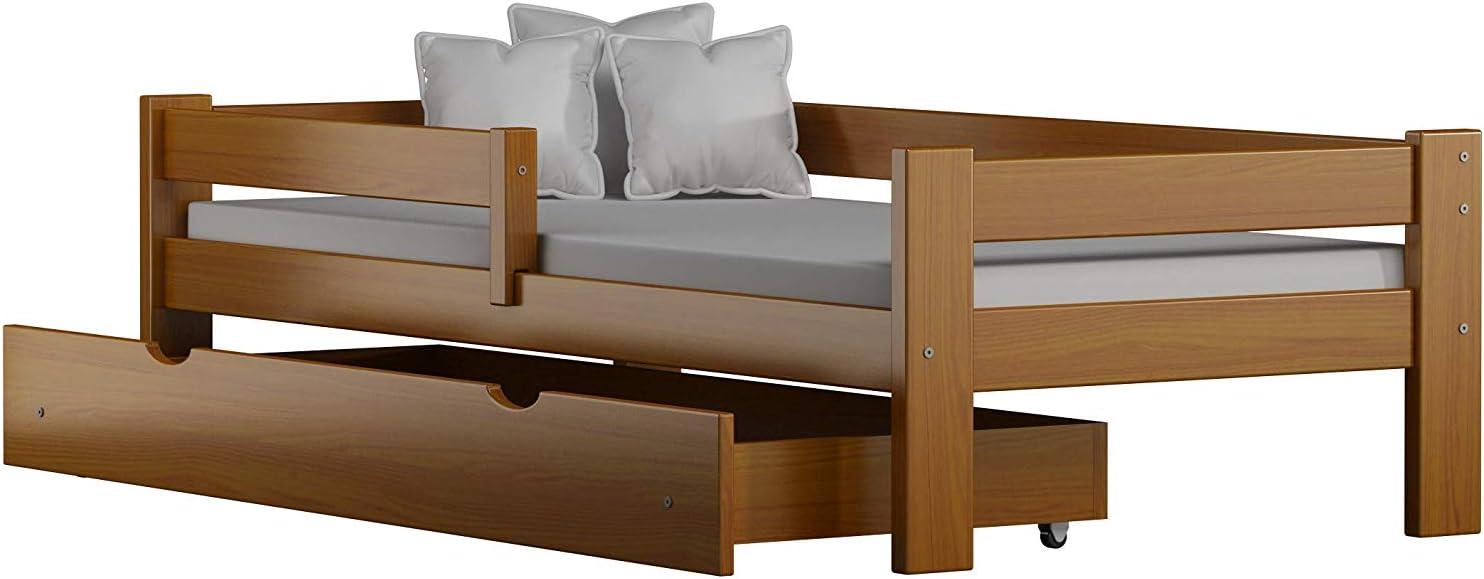 Willow Viene con cajones y colch/ón de Espuma Incluido Childrens Beds Home Cama Individual de Madera de Pino Macizo 140x70, Natural