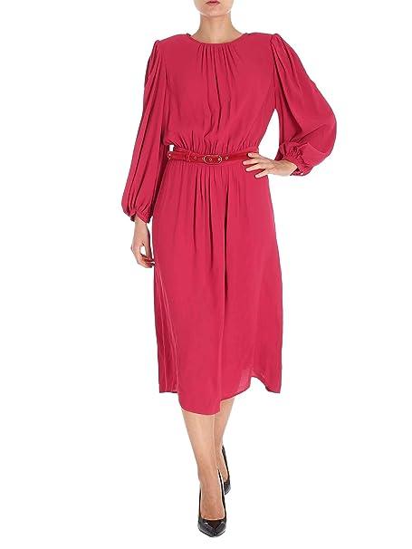 e47c0cae3d544 Elisabetta Franchi Mujer Ab44086e2 Rojo Viscosa Vestido  Amazon.es  Ropa y  accesorios