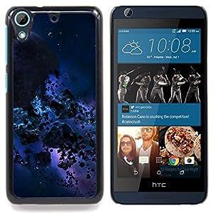 "Qstar Arte & diseño plástico duro Fundas Cover Cubre Hard Case Cover para HTC Desire 626 (Azul Meteor Espacio"")"