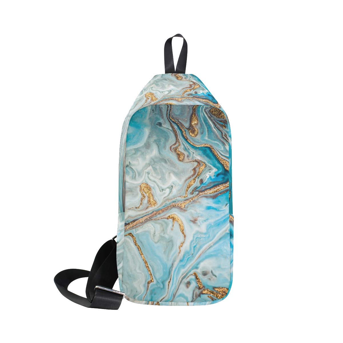 TFONE Abstract Marble Grain Crossbody Bag Lightweight Chest Shoulder Messenger Pack Backpack Sling Bag