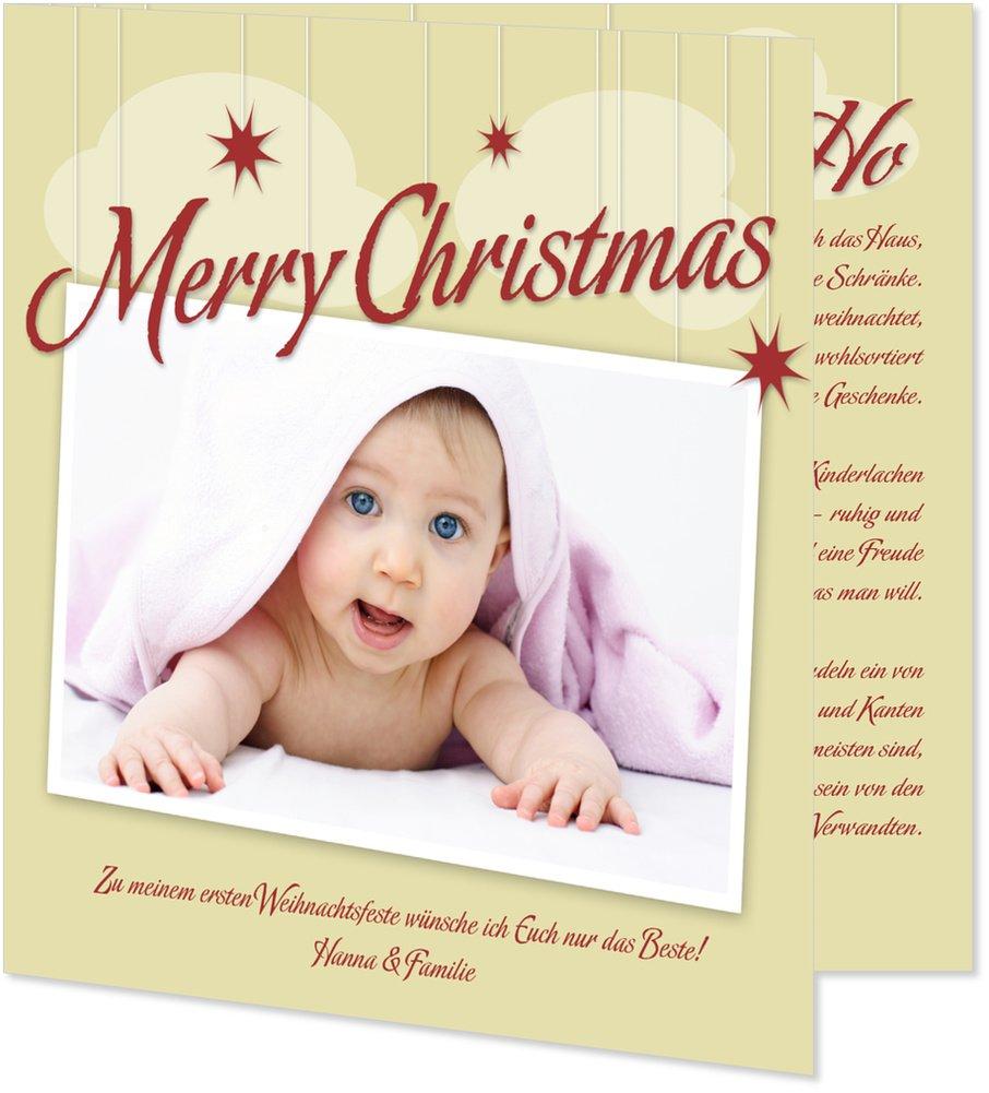 Weihnachtskarten Babyfoto von Wunderkarten: Amazon.de: Bürobedarf ...