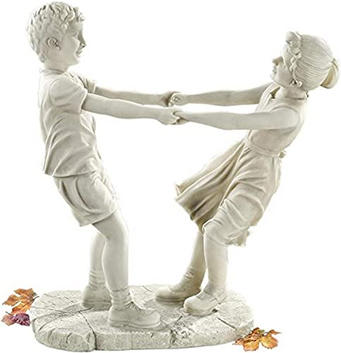 Design Toscano Little Girl and Boy Dancing Garden Statue