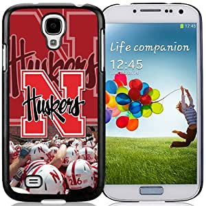 Fashionable And Unique Custom Designed With Ncaa Big Ten Conference Football Nebraska Cornhuskers 21 Protective Cell Phone Hardshell Cover Case For Samsung Galaxy S4 I9500 i337 M919 i545 r970 l720 Phone Case Black