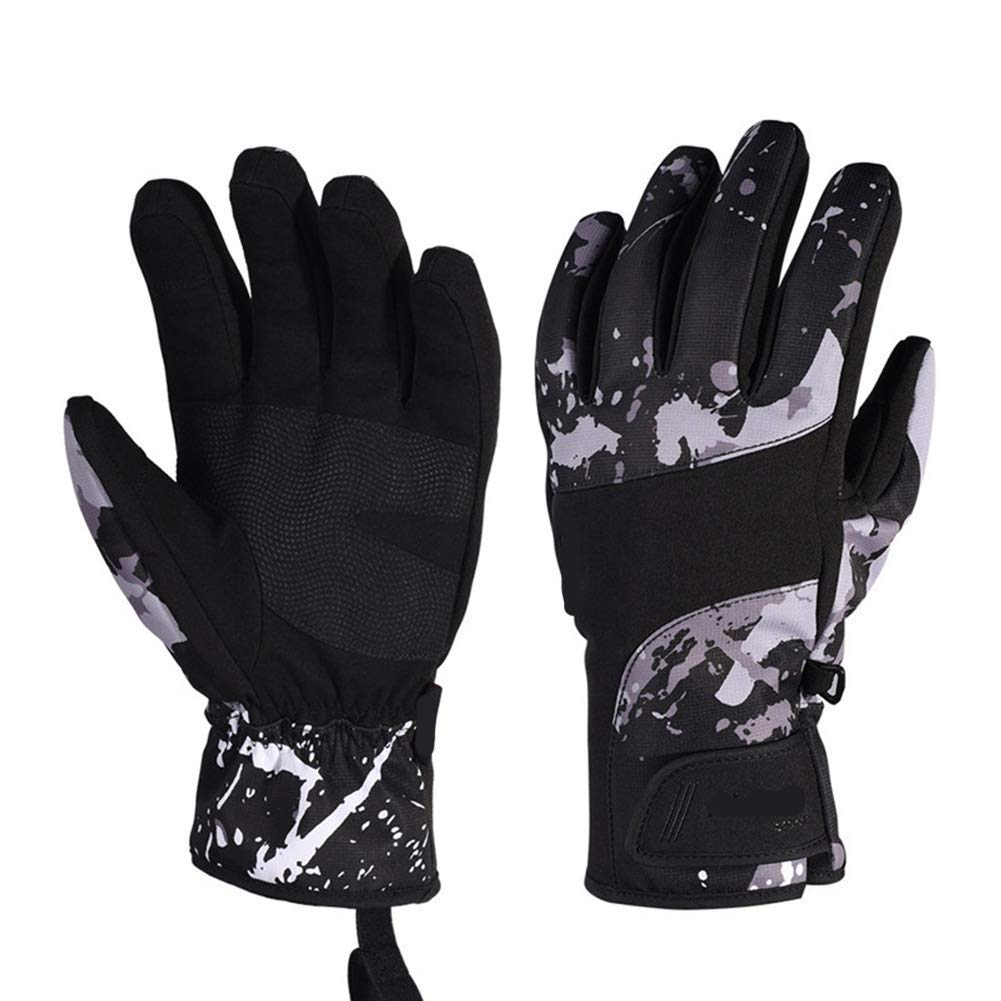 LIIYANN Handschuhe Junior Ski Handschuhe - Wintersport wasserdicht atmungsaktiv warme Handschuhe, Winddicht Outdoor-Verdickung Reithandschuhe für Herren Damen, A, S