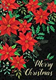Cheap Christmas Poinsettia – Merry Christmas – STANDARD Size, 28 Inch X 40 Inch, Decorative Double Sided Flag Printed in USA – Copyright and Licensed, Trademarked by Custom Décor Inc.