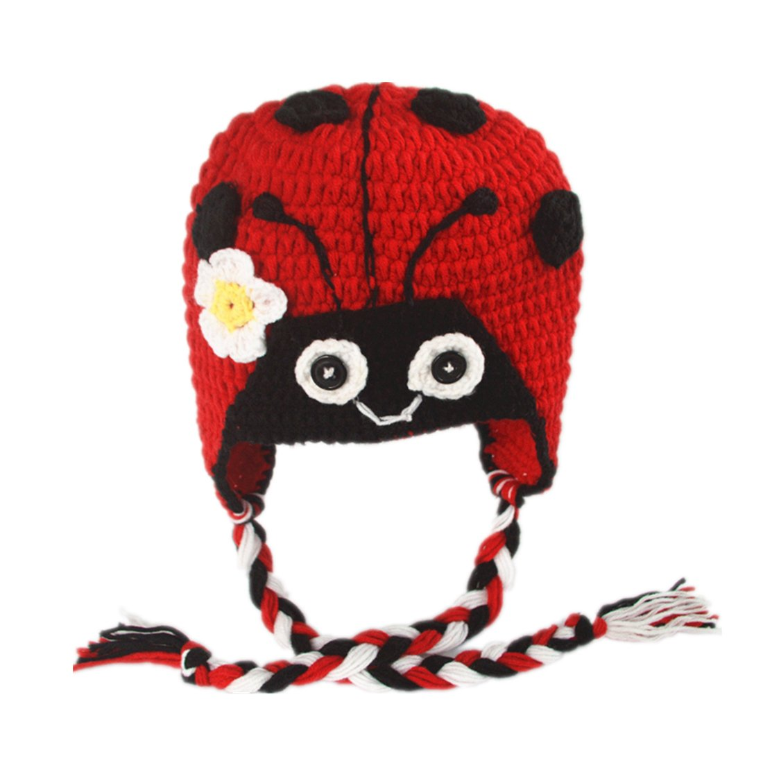 Amazon Generic Ladybug Animal Patterns Knit Crochet Earflap