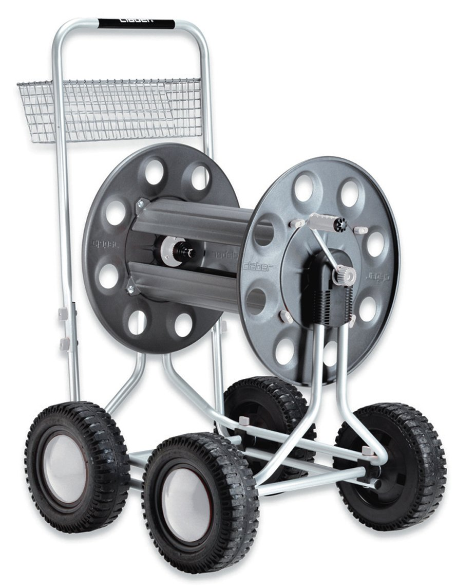 Claber 8900 Jumbo 4 Wheel Garden Hose Reel with 350-Foot 5/8-Inch Capacity