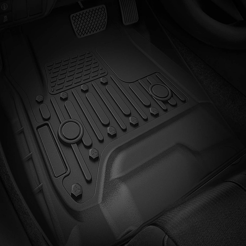 Full Set Custom Fit Floor Liners Front Rear oEdRo Floor Mats fit for Crew Cab 2014-2018 Chevy Silverado//GMC Sierra 1500//2015-2019 2500HD//3500HD