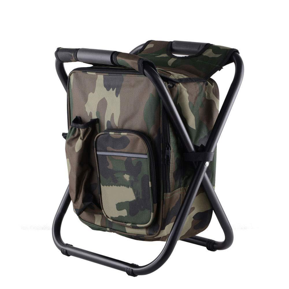 Camouflage 362941cm YCYHMYF Tabouret de pêche portable avec Sac Isolant Peut être de Retour Chaise de Plage Chaise de réfrigérateur en Plein air (Bleu)