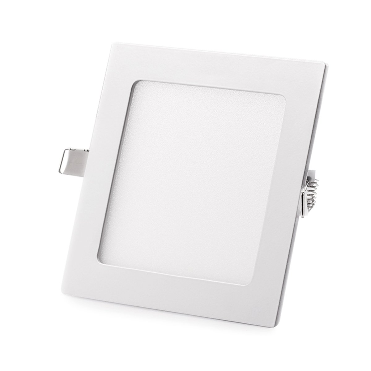 SAYHON Ultra-Thin 9W 5-inch LED Retrofit Recessed Lighting Kit Fixture, Non-Dimmable Square Flat Panel Ceiling Light Downlight, 3000K Warm White 135MM Cut Hole for Hallway/Kitchen/Bedroom/Home/Office