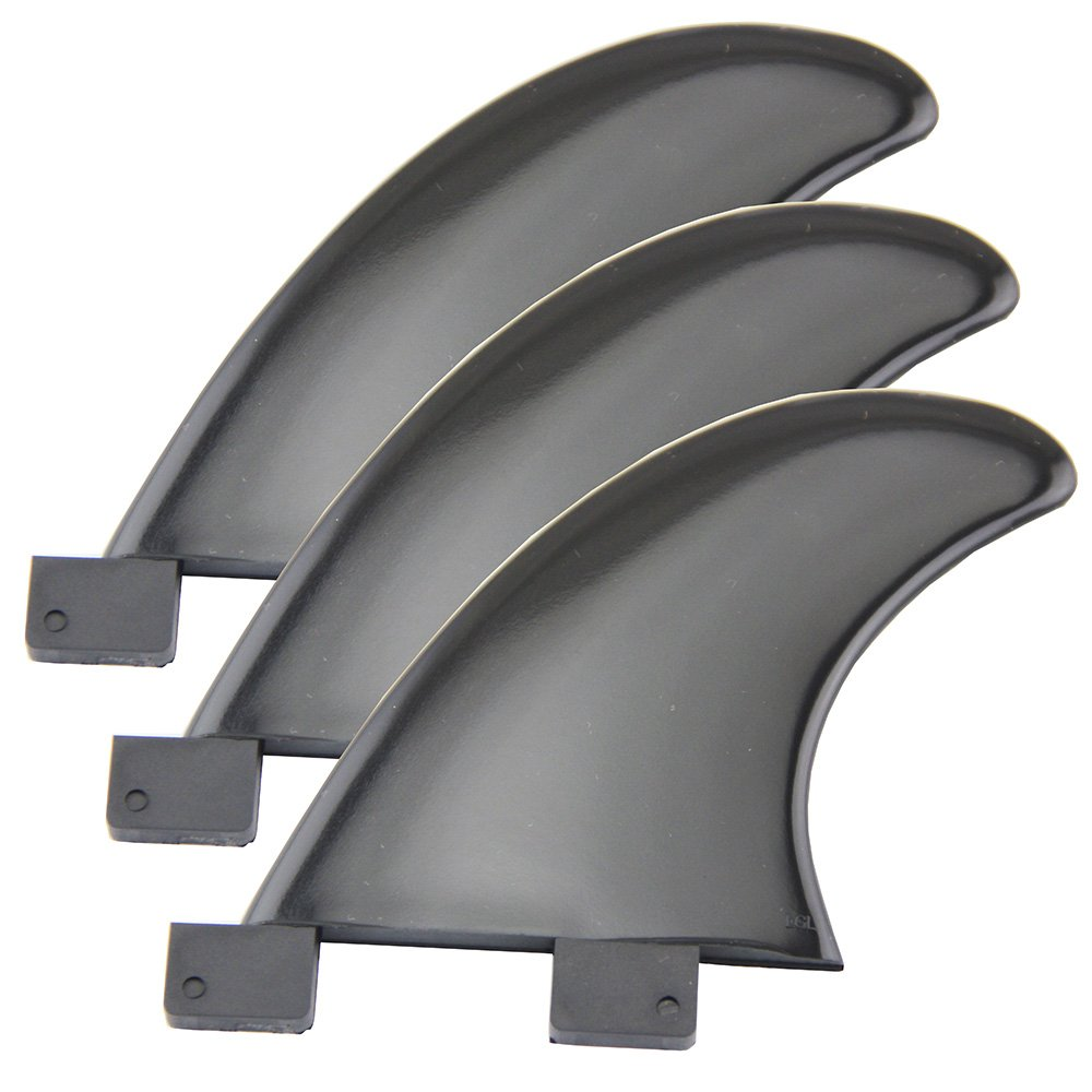 UP100 Surfboard Fins Quad (4 Fins) For FCS Surfing Board SUP Surfing Fin Black