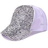 Women Bling Studded Rhinestone Crystal Love Lips Baseball Caps Hats