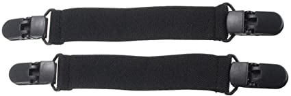 Mayitr Clip Hose Stiefel Verstellbare Elastische Hosenbeinhalter 125mm 2 St/ück