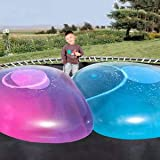 47 Inch Giant Water Bubble Ball , Inflatable Water-Filled Ball Soft Rubber Ball for Outdoor Beach Pool Party Large
