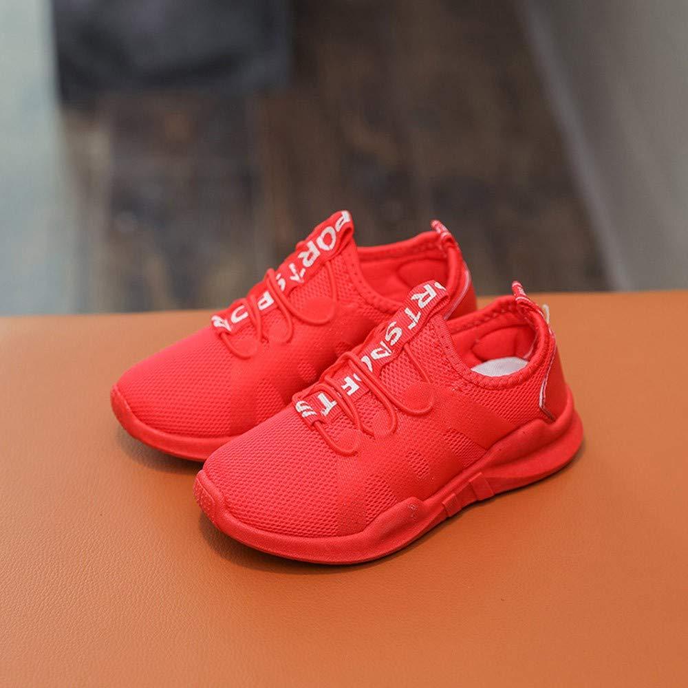 Chaussures B/éb/é BinggongKid B/éb/é Gar/çons Filles Chaussures de Sport en Mesh Respirant Casual Mode Engrener Chaussures Lettre Imprim/é Chic Sneakers Basket pour b/éb/é 3-12 Ans