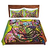 DiaNoche Designs Dean Russo-French Bulldog Dog 3 Brushed Twill Home Decor Bedding Cover, 7 Queen Duvet Sham Set