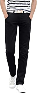Elodiey Pantaloni Casual da Uomo Pantaloni Pantaloni Autunno Sottili Pantaloni Chino Primavera Giovane Cargo da Lavoro Casual Pantaloni Lunghi A Tinta Unita