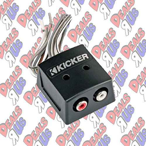 Kicker KISLOC 2-Channel K-Series Speaker Cable to RCA Adapter with Line Out Converter - Kicker Stereo Speakers