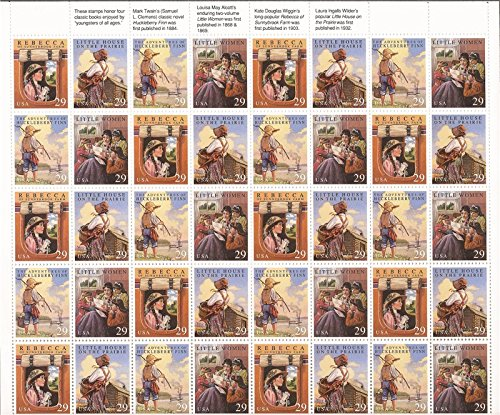 Classic Books Complete Sheet of 40 x 29 Cent Stamps Scott 2785-88 by USPS 29 Classic Books