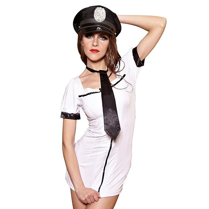 Amazon.com: Sexy Lencería Uniformes de policía – Disfraz de ...