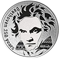 2020 CM Modern Commemorative PowerCoin BEETHOVEN 250th Anniversary Silver Coin 250 Francs Cameroon 2020 Proof