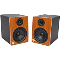 Rockville apm10b 25,4 cm 400 W Powered/Activo Studio Pro Subwoofer referencia Sub, Madera clásica