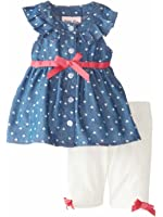 Little Lass Infant Girls Denim Top & Leggings Outfit 2 Piece Set 3-6 Months