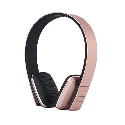 Auriculares inalámbricos, KINGCOO – Auriculares de diadema ajustable auriculares estéreo Bluetooth con Micro, caling