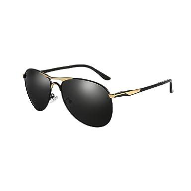 aae46df9df HDCRAFTER E011 High Grade Classic Polarized Aviator Sunglasses 100% UV  Protection (Golden)  Amazon.co.uk  Clothing
