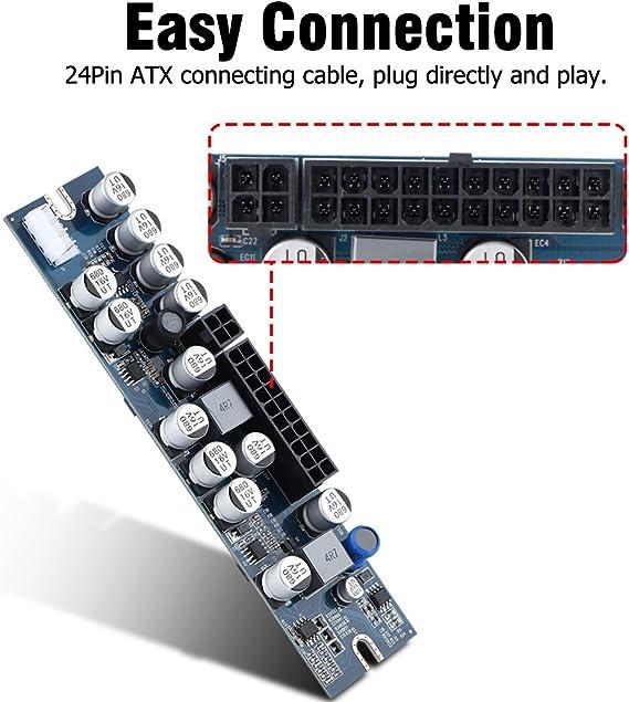 Richer-R 24Pin ATX 120W 12V DC M/ódulo de Fuente de Alimentaci/ón para Computadoras Mini,HTPC,POS,Decodificadores Digitales,Estuche ITX,Servidores de Red,Terminales de Banco,M/áquinas Mineras//AD,etc.