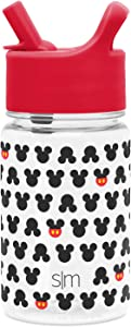 Simple Modern Disney 12oz Summit Kids Tritan Water Bottle with Straw Lid for Toddler - Dishwasher Safe Travel Tumbler - Disney: Mickey Ears