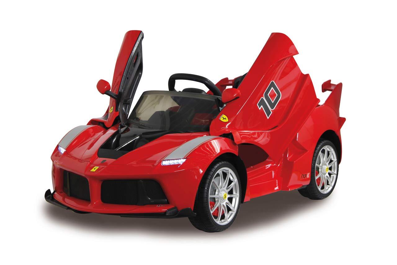 Jamara 460409 Ride-on Ride-on Ride-on Ferrari LaFerrari FXX K 2,4G 6V-Startknopf, Softanlauf, 2-Gang, Gummiring am Antriebsrad, Leistungsstarker Antriebsmotor und Akku, Sound, Licht, RC oder selbstfahren, rot 47711a