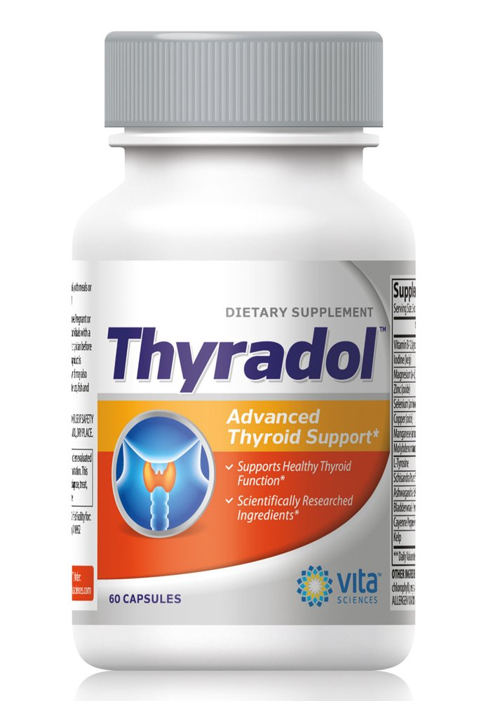 THYRADOL Thyroid Support Formula with Natural Iodine for Metabolism, Weight loss, Daily Energy and Clarity of Mind, Natural Ingredients, Soy & Gluten Free