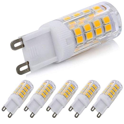 5 Pack G9 Led Bulb 120v T4 G8 Base Bi Pin Xenon Jcd Type Led Halogen Replacement Bulb 40w Equivalent Warm White 3000k Warm Whit 52s