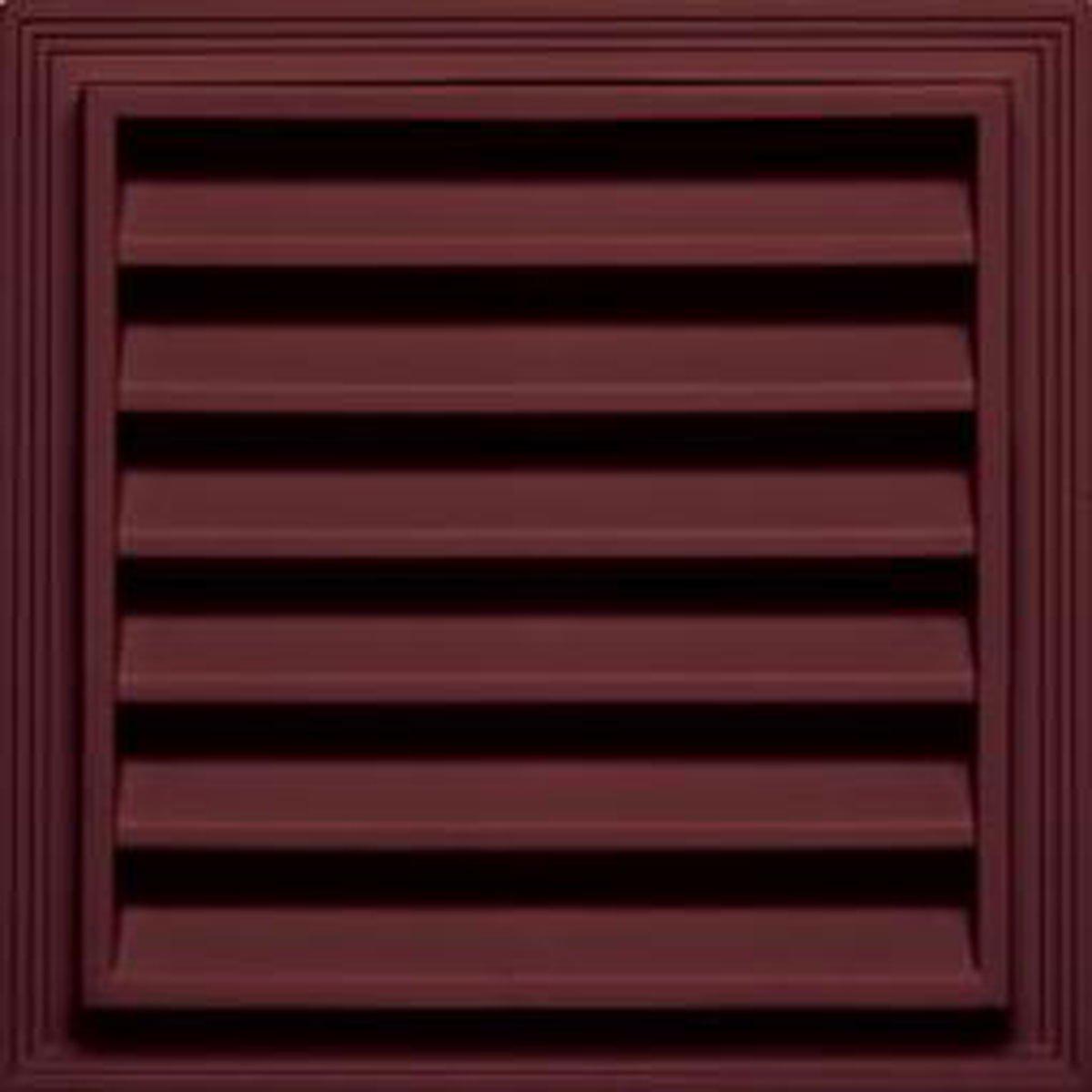 002 Inch Vent Area Black 38 Sq 12W x 12H Square Gable Vent Louver