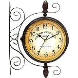 Amazon Com Deco 79 Metal Wall 2 Side Clock 15 By 20 Inch