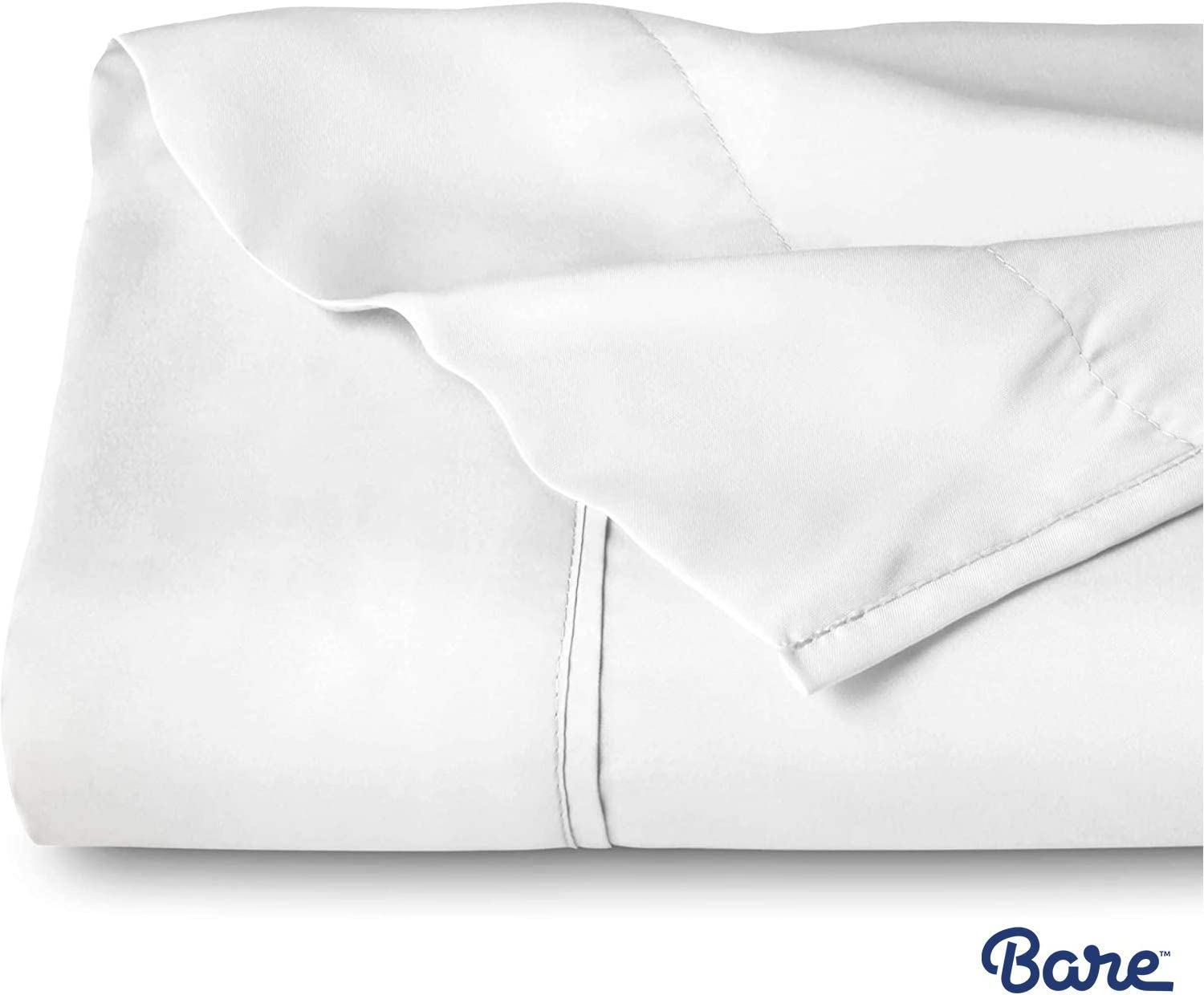 Bare Home Flat Top Sheet Premium 1800 Ultra-Soft Microfiber Collection - Double Brushed, Hypoallergenic, Wrinkle Resistant, Easy Care (King, White) -