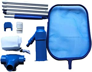 """Portable Pool Vacuum Jet Underwater Cleaner W/Brush,Bag,4 Section Pole of 46""""(No Garden Hose Included),for Above Ground Pool,Spas,Ponds & Fountains"""