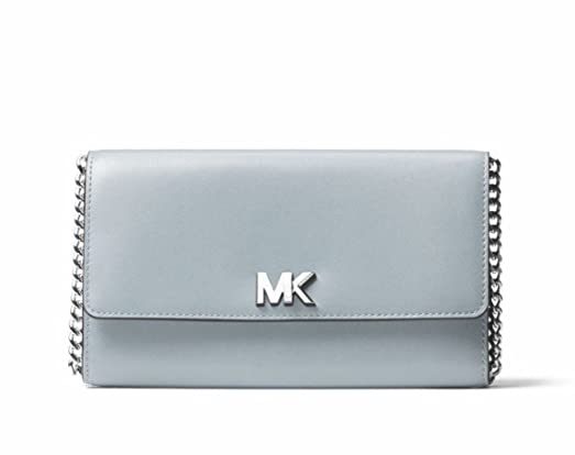 michael kors leather mott xl wallet clutch crossbody bag in dusty rh amazon com