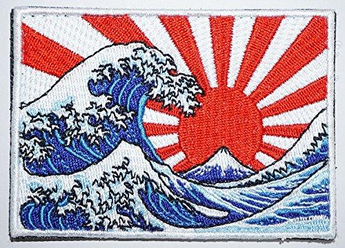 [Japan Import] 100% Embroidery Verclo Patches Hokusai Katsushika Ukiyo-e A0225