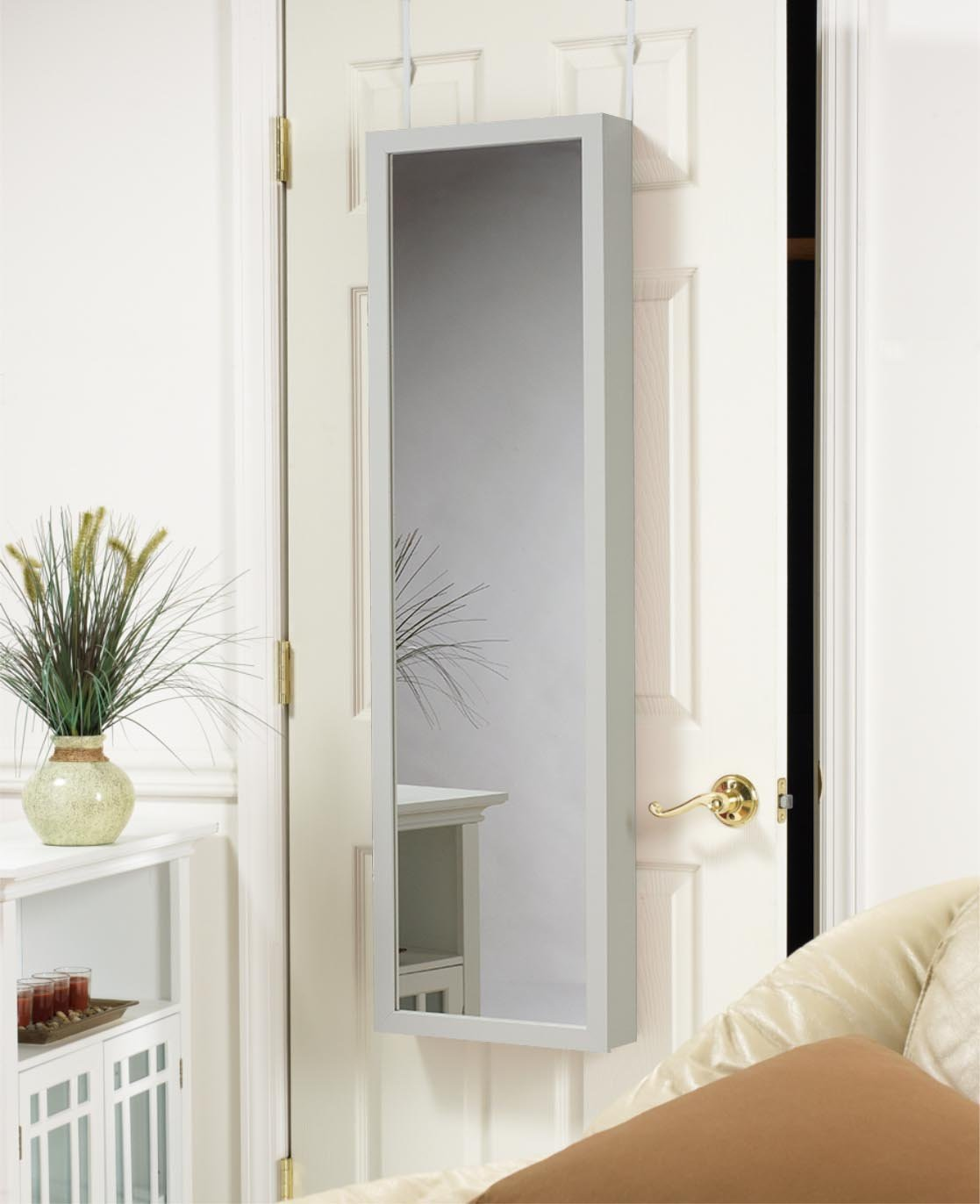Plaza Astoria Wall/Door-Mount Jewelry Armoire, White by Plaza Astoria (Image #5)