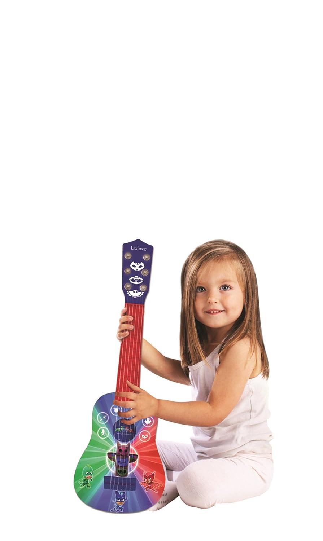 Pj Mask Pijamasks-Mi Primera Guitarra, 6 Cuerdas, 53 cm, a Partir de 3 años (Lexibook K200PJM): Amazon.es: Juguetes y juegos